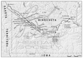 Map 3. Southern Minnesota, 1862.