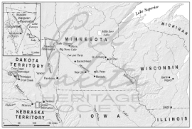 Map 4. Minnesota and Dakota, 1871.